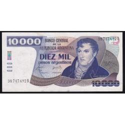 RARO B2708 10.000 Pesos Argentinos B 1985 EXC-
