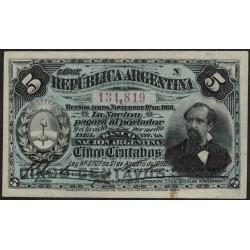 B1006 5 Centavos 1893 Avellaneda Firmas Santamarina - Achaval EXC+