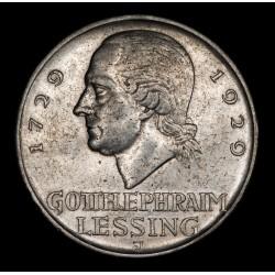 Alemania Weimar 5 Reichmark 1929J KM61 Ag EXC-