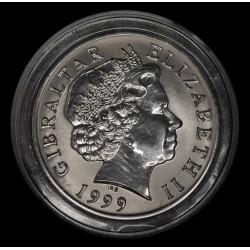Gibraltar 5 Libras 1999 KM797a Proof Ti UNC