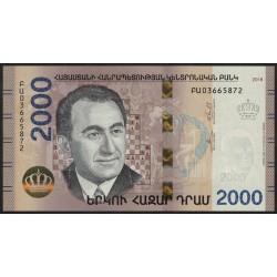 Armenia 2000 Dram 2018 Hibrido UNC