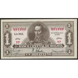 Bolivia 1 Boliviano 1928 P128 UNC
