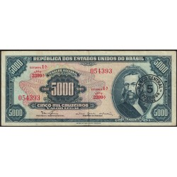 Brasil 5000 Cruzeiros Novos 1966/67 P188b MB+