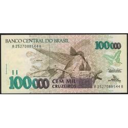 Brasil 100000 Cruzeiros 1992 P235a F29 EXC+