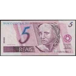 Brasil 5 Reales 1997 P244Ab F38 MB+