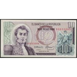 Colombia 10 Pesos Oro 1979 P407f UNC