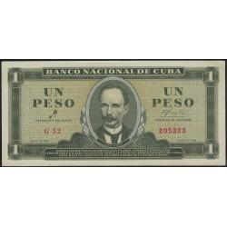 Cuba 1 Peso 1961 P94a EXC+
