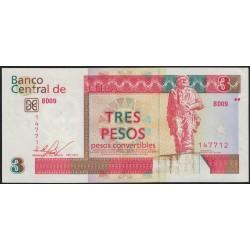 Cuba 3 Pesos 2016 UNC