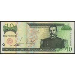 Republica Dominicana 10 Pesos Oro 2001 P165b EXC+
