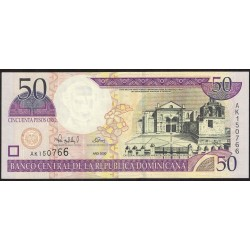 Republica Dominicana 50 Pesos Oro 2000 P161a UNC