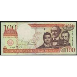 Republica Dominicana 100 Pesos Oro 2001 P171a MB+
