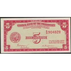 Filipinas 5 Centavos 1949 P126a EXC+