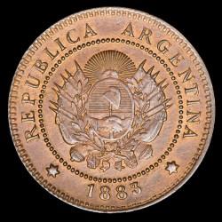 Argentina 1 Centavo 1883 No Catalogada 3 Elevado Cobre EXC+/UNC