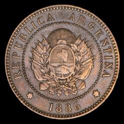Argentina 1 Centavo 1886 CJ42.1 Cobre EXC