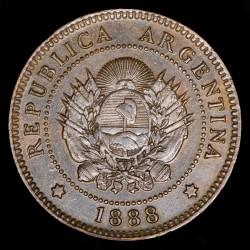 Argentina 1 Centavo 1888 CJ43.1 Cobre EXC+