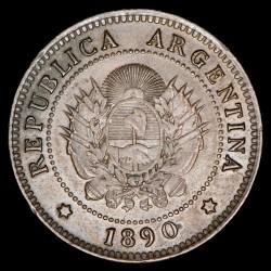 Argentina 1 Centavo 1890 CJ45.10 Cobre EXC/EXC+