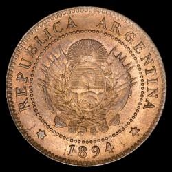 Argentina 1 Centavo 1894 CJ49.5 Cobre UNC