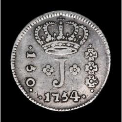 Brasil 150 Reis 1754R Jose I KM185 Ag VF
