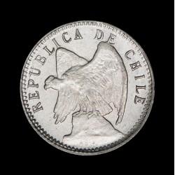Chile 5 Centavos 1908/2 KM155.2a Ag UNC