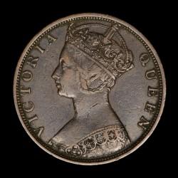 Hong Kong 1 Centavo 1900H KM4.3 Cobre MB/EXC