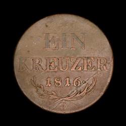 Austria 1 Kreuzer 1816B KM2113 Cobre B+