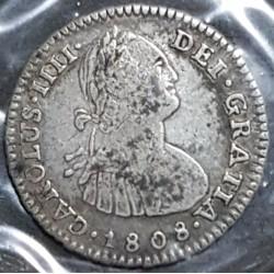 Potosi 1 Real 1808 PJ CJ:79.21.2 Carlos IIII