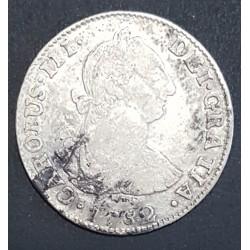 Potosi 2 Reales 1782 PR CJ:65.11.2 Carlos III