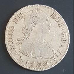 Potosi 2 Reales 1799 PP CJ:78.11 Carlos IIII