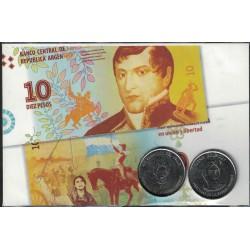 Set medallas Juana Azurduy - Remedios Del Valle - UNC
