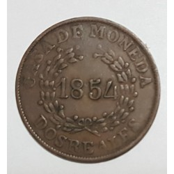 Buenos Aires 2 Reales 1854, A-5 R-4 CJ:19.2.4