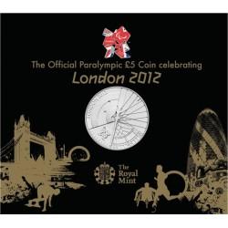 Gran Bretaña Moneda de 5 Libras Juegos Paralimpicos 2012 En Blister - UNC