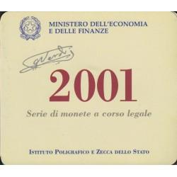 Italia Set de monedas de curso legal Año 2001 - 12 Monedas - UNC