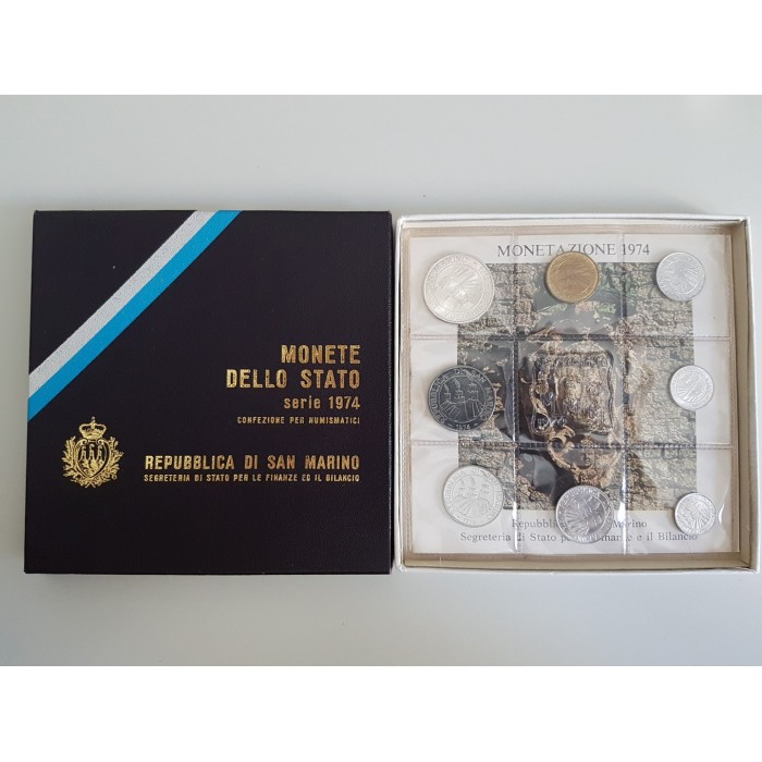 San Marino Set de Monedas de Estado 1974 - UNC