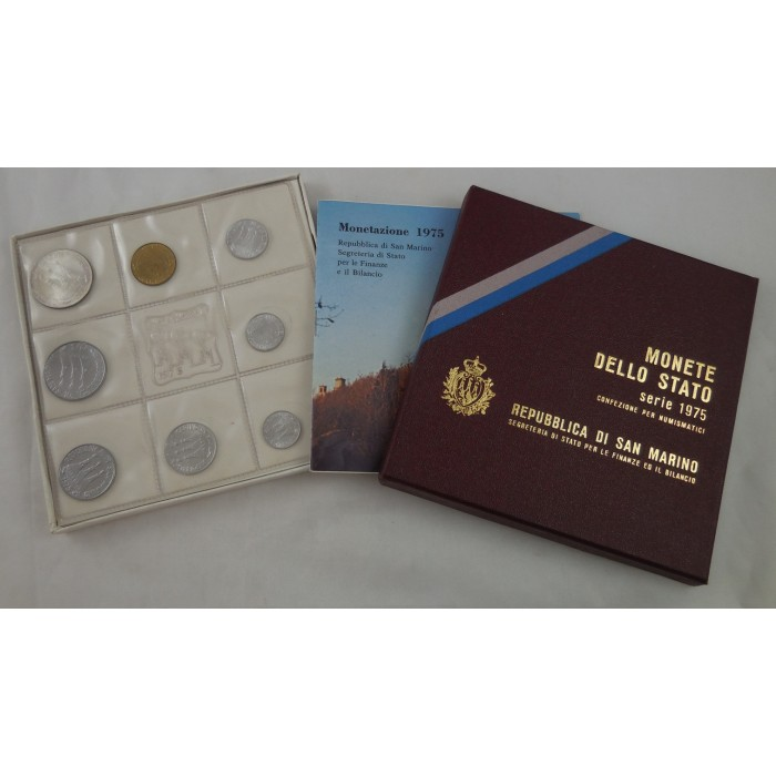 San Marino Set de Monedas de Estado 1975 - UNC