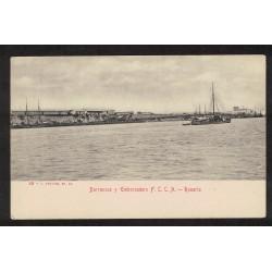 Barrancas y Embarcadero F.C.C.A Rosario - Peuser