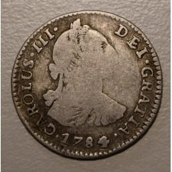 Potosi 1 Real 1784/3 PR CJ:66.13.1 Carlos III Con Doble Golpe En Anverso y Reverso