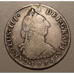 Potosi 4 Reales 1774 JR CJ:64.2 Carlos III Perforada y Tapada