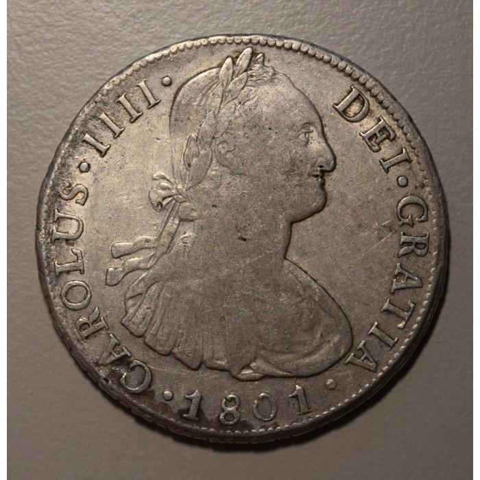 Potosi 8 Reales 1801 PP CJ:76.13 Carlos IIII