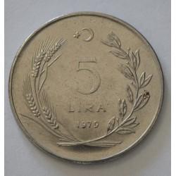 KM905 Turquía 5 Liras 1979 UNC