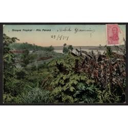 Postal Enviada desde la Zona del Litoral a Pozo del Molle Córdoba