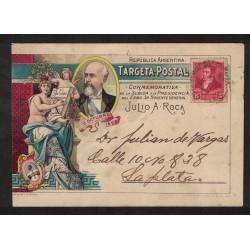 Postal Conmemorativa de Julio A. Roca