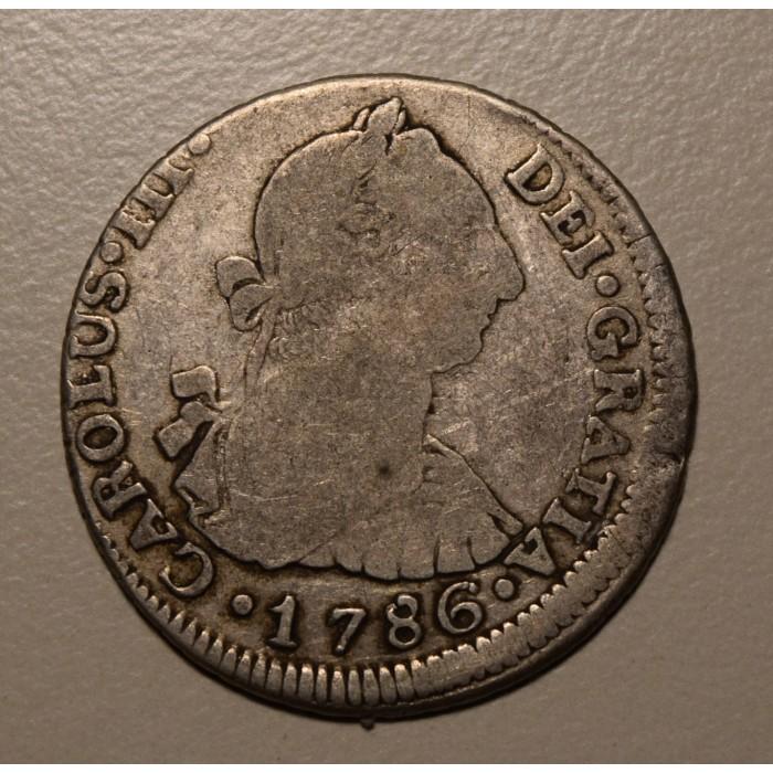 Potosi 2 Reales 1786 PR CJ:65.15.3 Carlos III