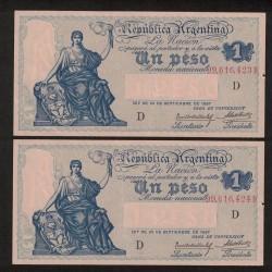 B1559 Caja de Conversion 1 Peso 1929 Numeros Correlativos