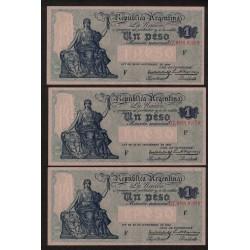 B1564 Caja de Conversion 1 Peso 1933 Numeros Correlativos