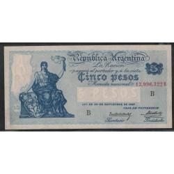 B1592 Caja de Conversion 5 Pesos 1928