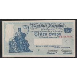 B1599 Caja de Conversion 5 Pesos 1933