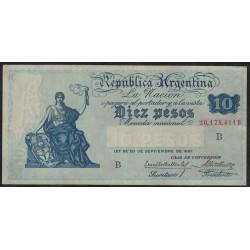 B1628 Caja de Conversion 10 Pesos 1928