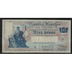 B1629 Caja de Conversion 10 Pesos 1929