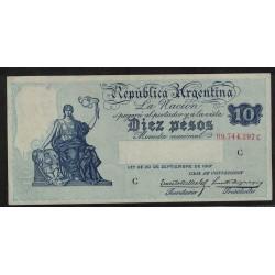 B1634 Caja de Conversion 10 Pesos 1934