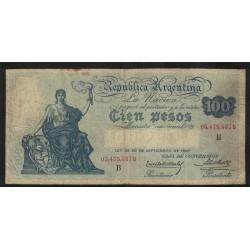 B1689 Caja de Conversion 100 Pesos 1930